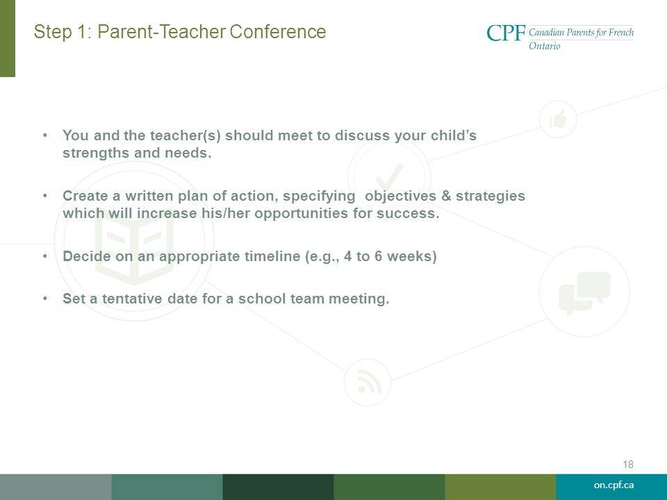 Step 1: Parent-Teacher Conference