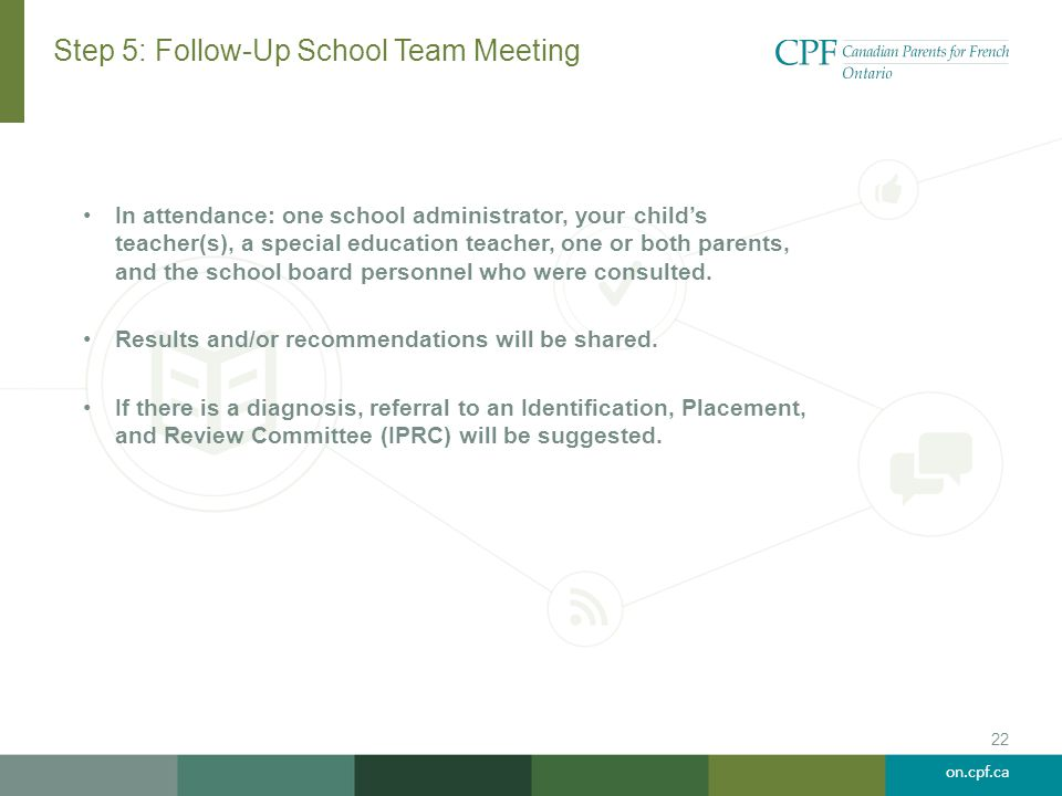 Step 5: Follow-Up School Team Meeting