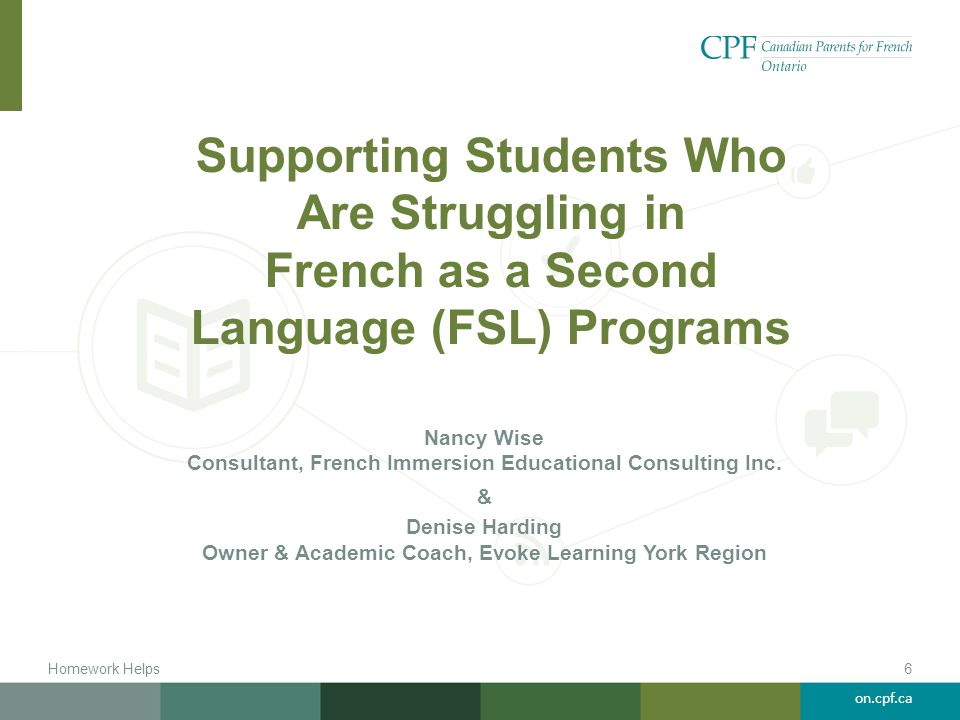 Supporting Students Who Are Struggling in French as a Second Language (FSL) Programs
