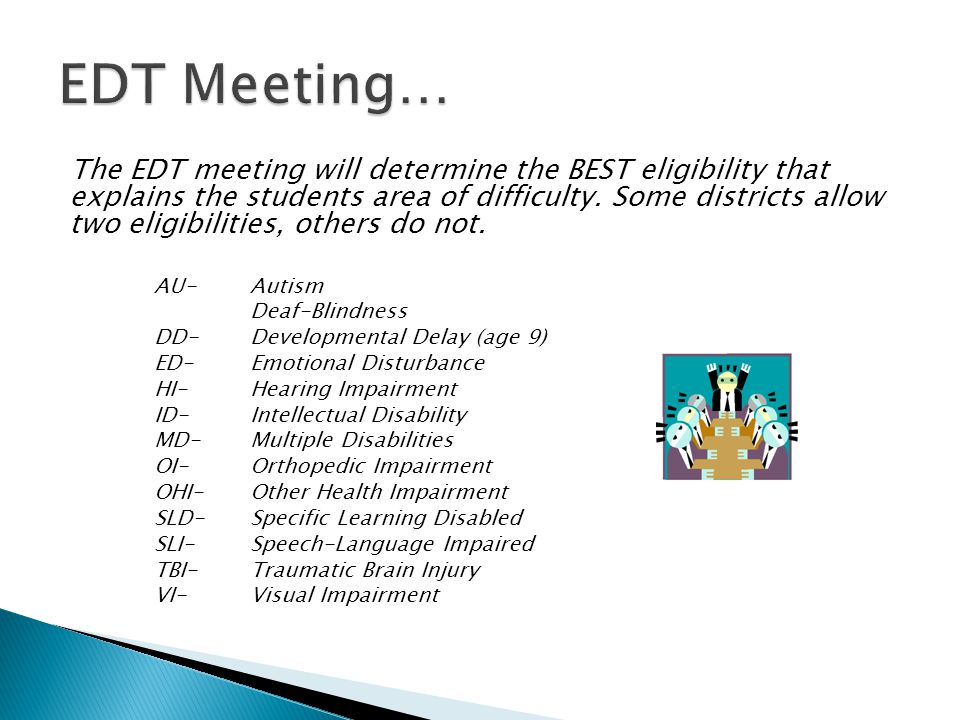 EDT Meeting…
