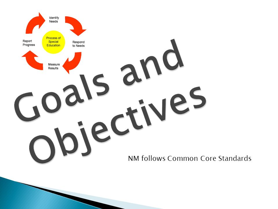 Goals and Objectives NM follows Common Core Standards