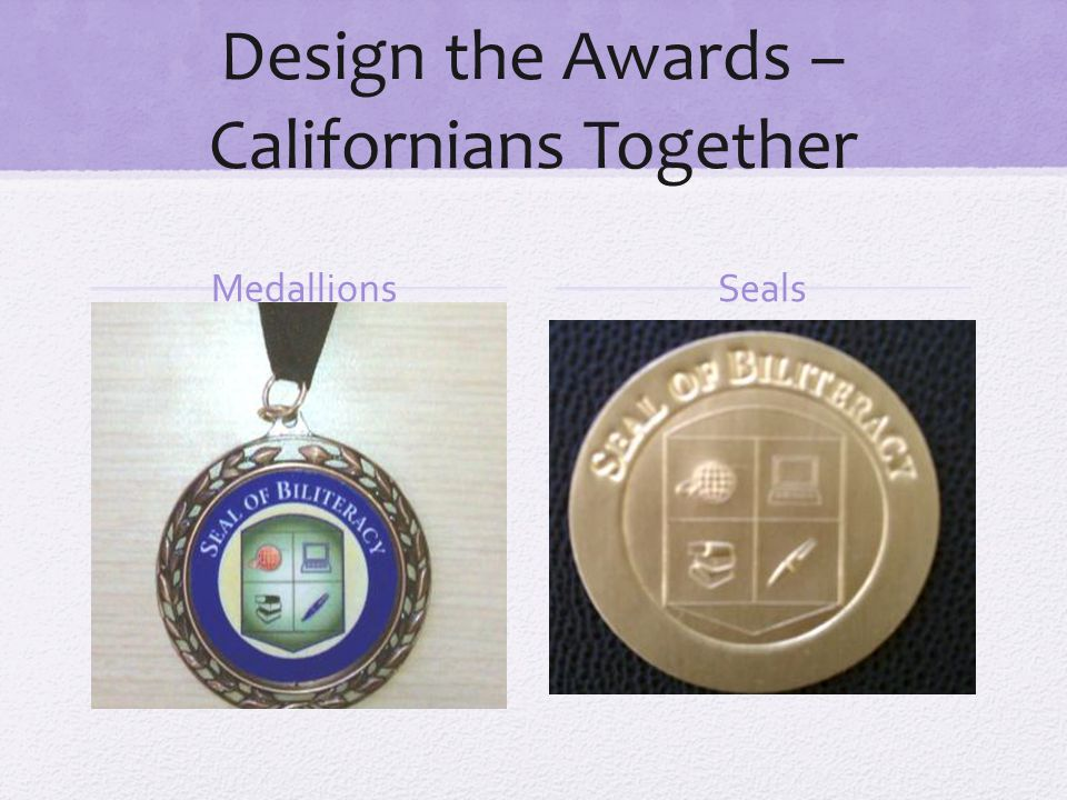 Design the Awards –Californians Together