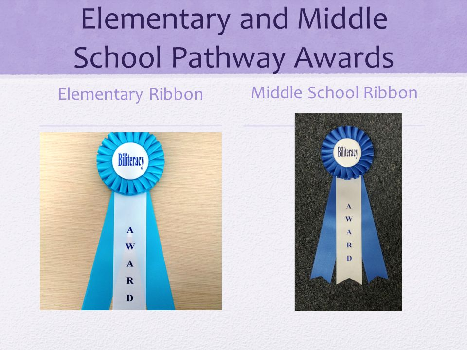 Elementary and Middle School Pathway Awards