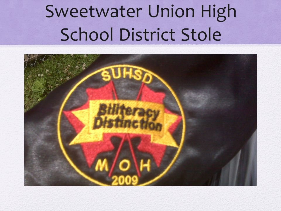 Sweetwater Union High School District Stole