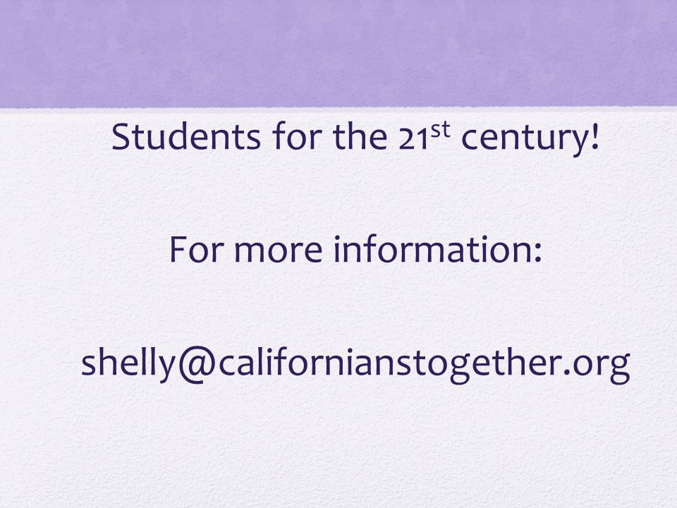 Students for the 21st century