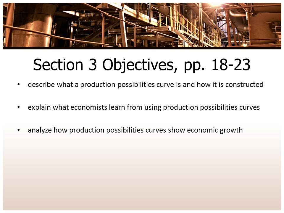 Section 3 Objectives, pp. 18-23