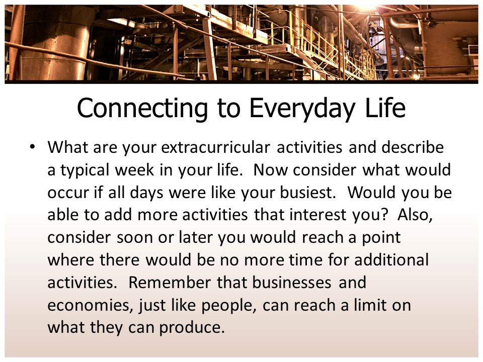Connecting to Everyday Life