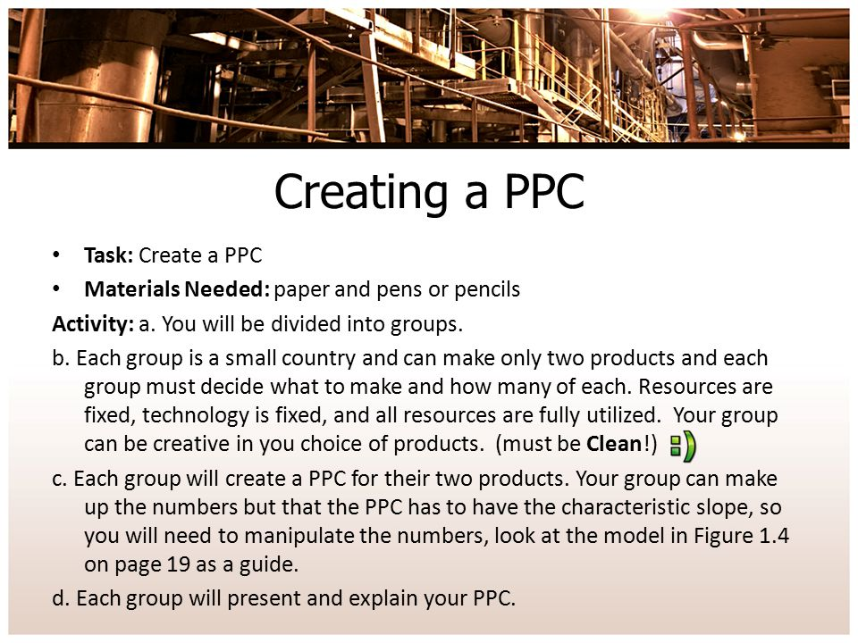Creating a PPC Task: Create a PPC