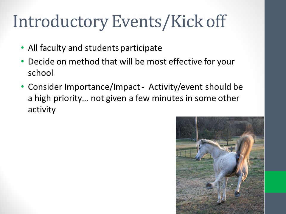 Introductory Events/Kick off