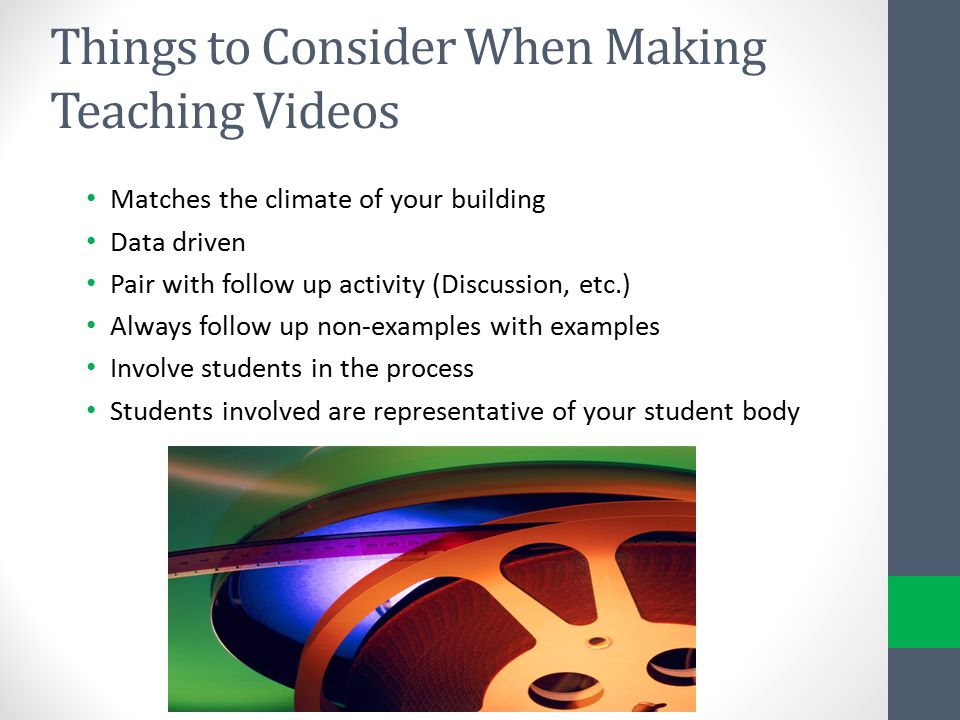 Things to Consider When Making Teaching Videos