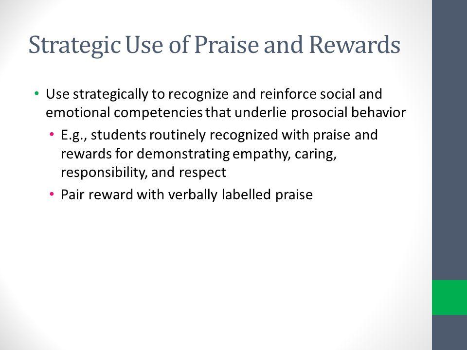 Strategic Use of Praise and Rewards