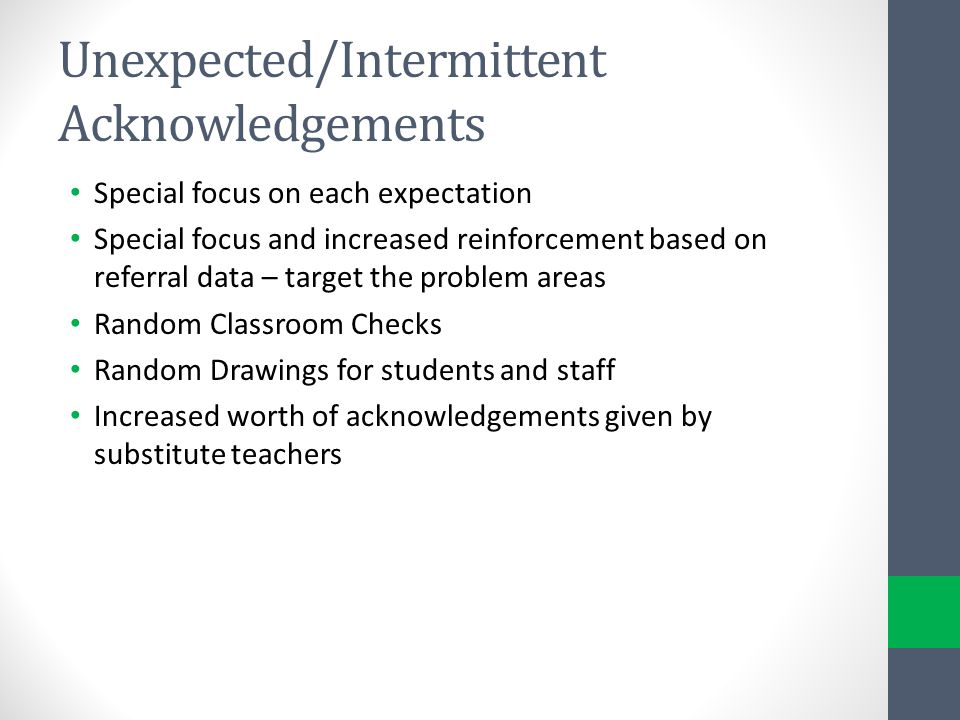 Unexpected/Intermittent Acknowledgements
