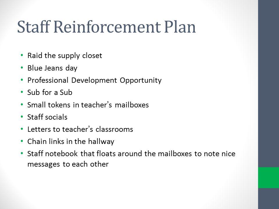 Staff Reinforcement Plan