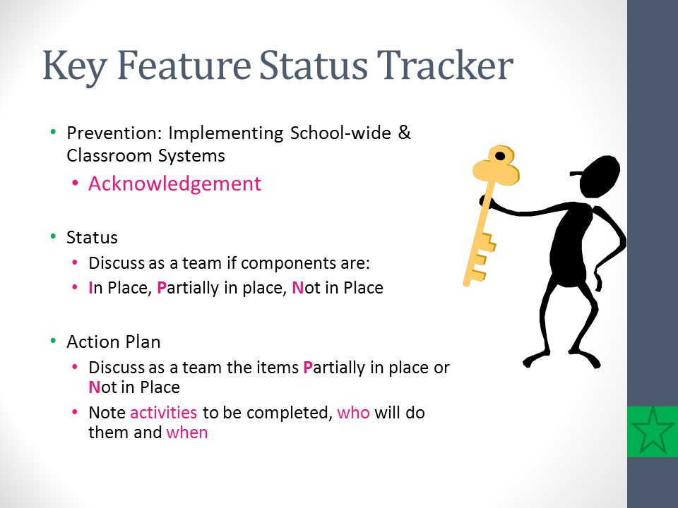 Key Feature Status Tracker