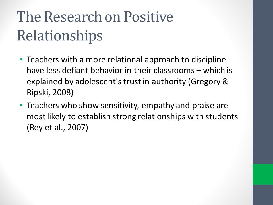 The Research on Positive Relationships