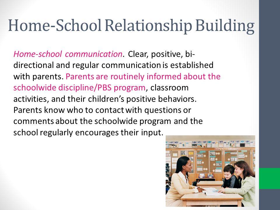 Home-School Relationship Building