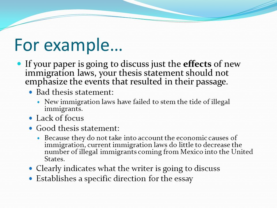 thesis on immigration to the united states Undocumented immigration in the united states in  analysis, the dissertation  investigated coverage of the discourse on undocumented.