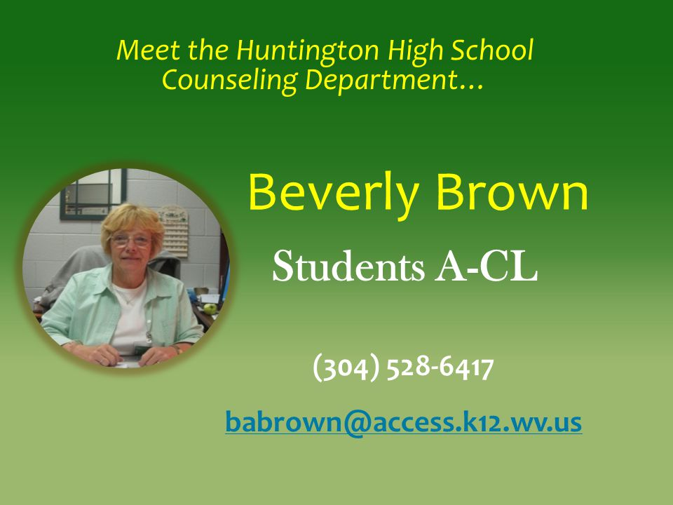 Meet the Huntington High School Counseling Department…