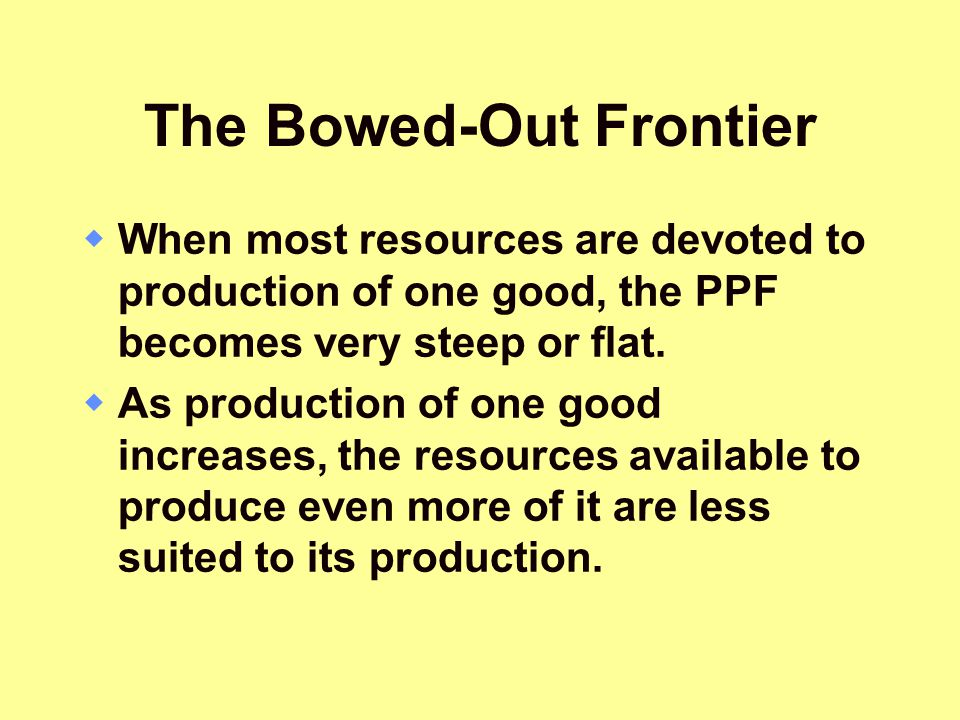 The Bowed-Out Frontier