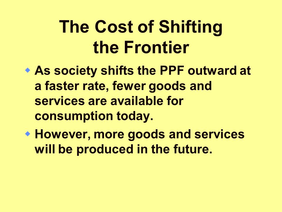 The Cost of Shifting the Frontier