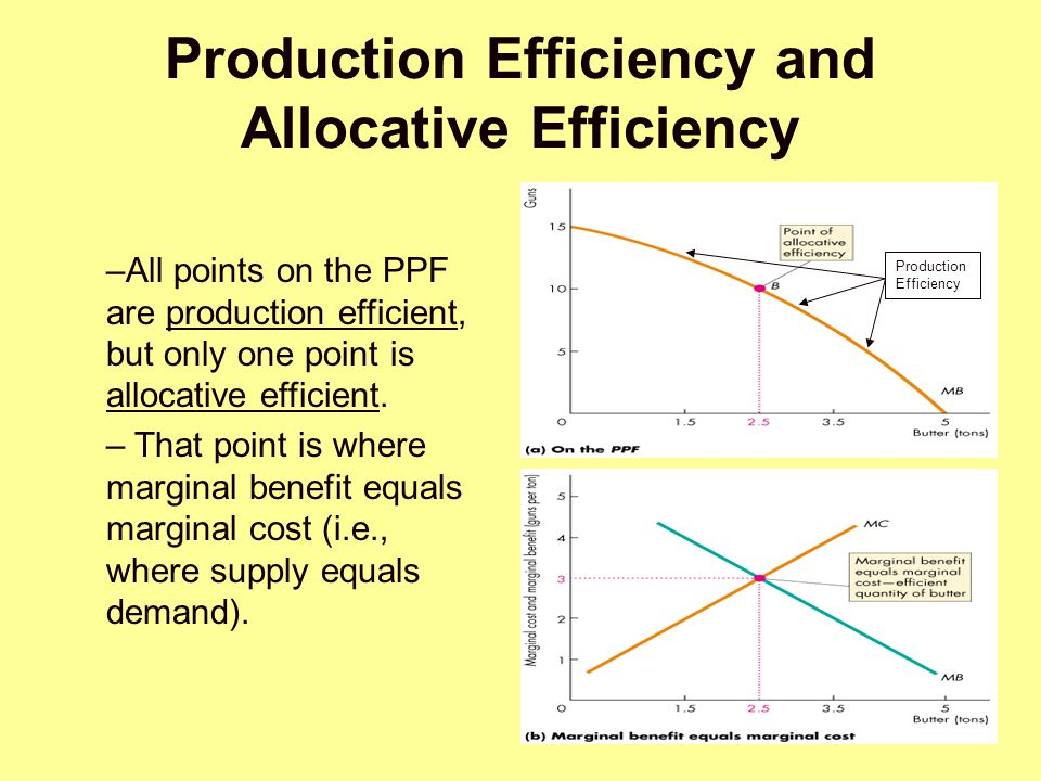 Production Efficiency and Allocative Efficiency