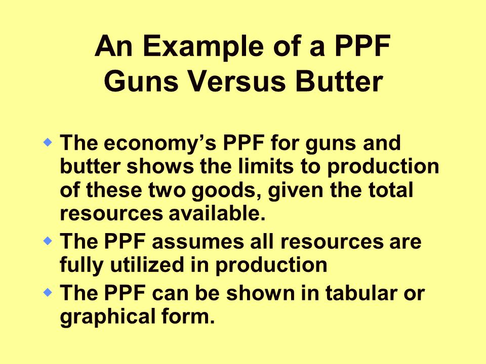 An Example of a PPF Guns Versus Butter