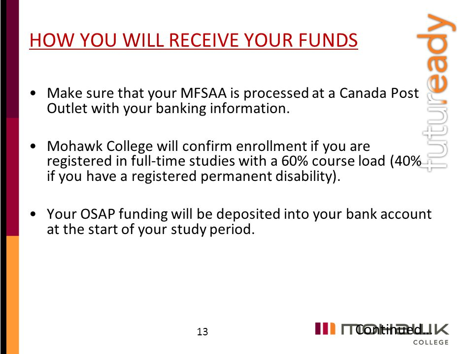 HOW YOU WILL RECEIVE YOUR FUNDS