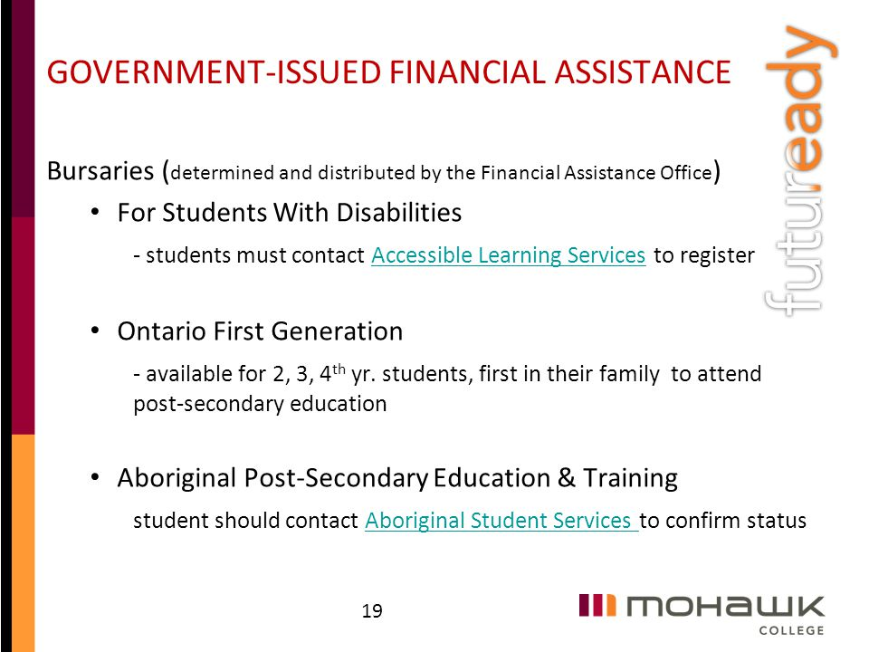GOVERNMENT-ISSUED FINANCIAL ASSISTANCE