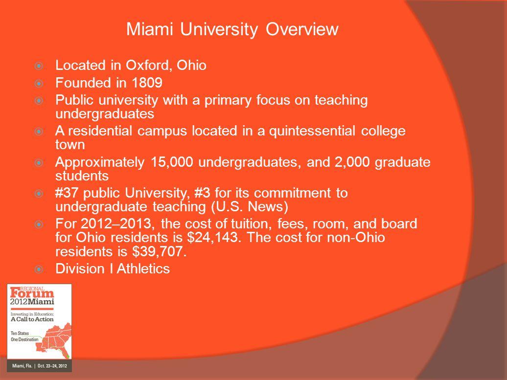 Miami University Overview