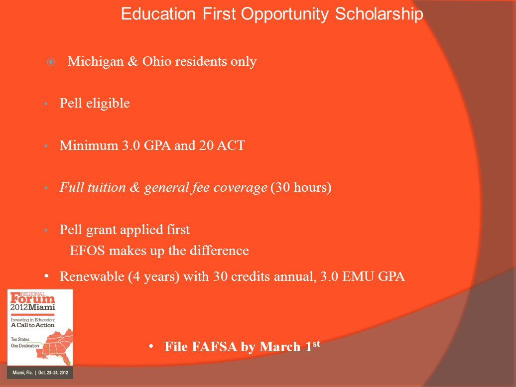 Education First Opportunity Scholarship