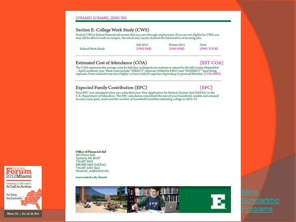 More: Scholarship Programs