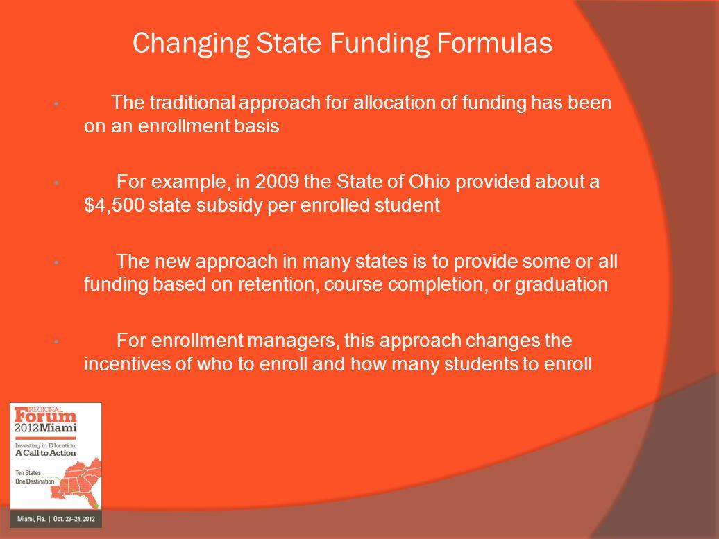 Changing State Funding Formulas