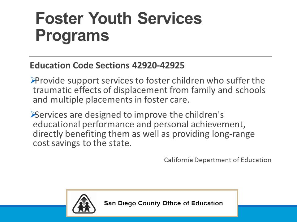 Foster Youth Services Programs