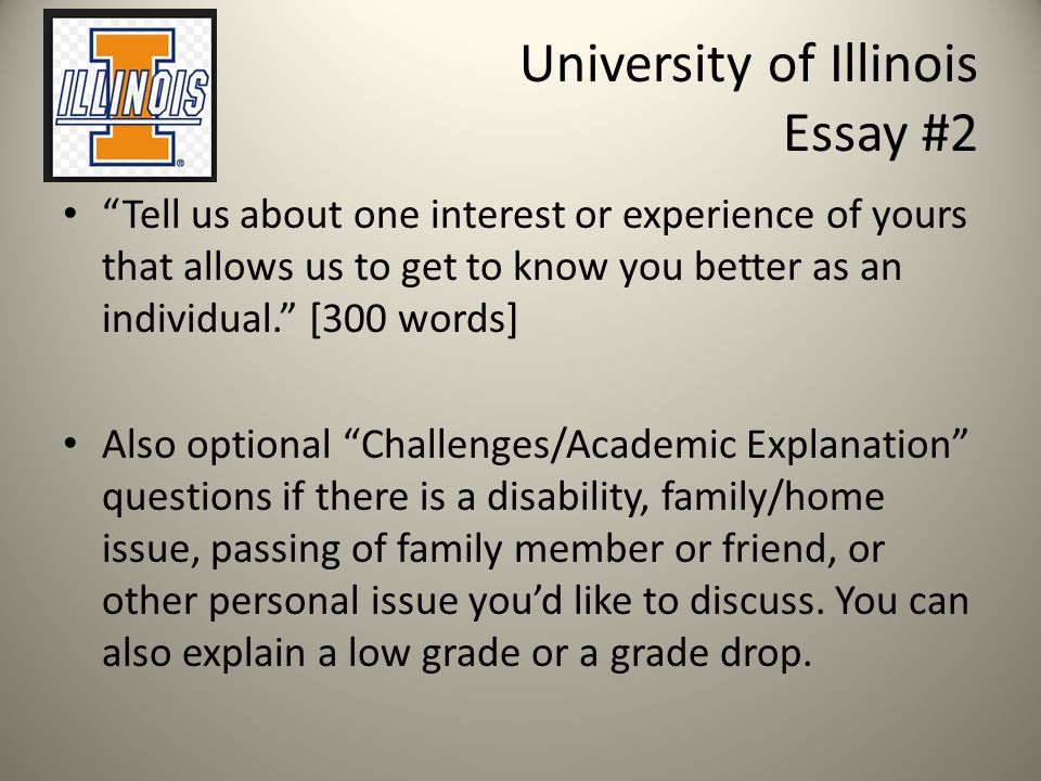 University of Illinois Essay #2