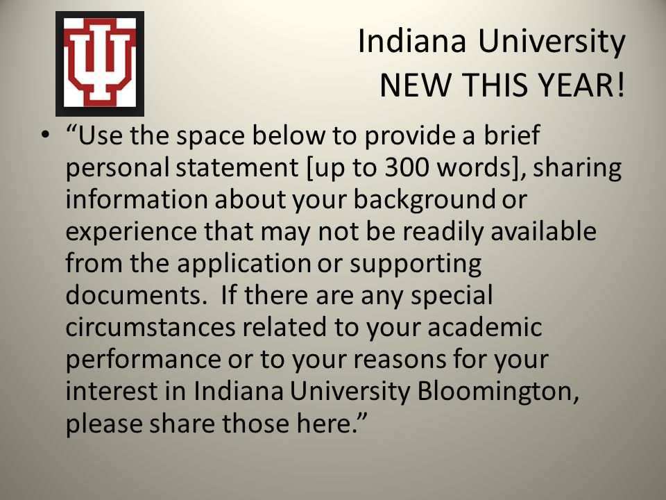 Indiana University NEW THIS YEAR!