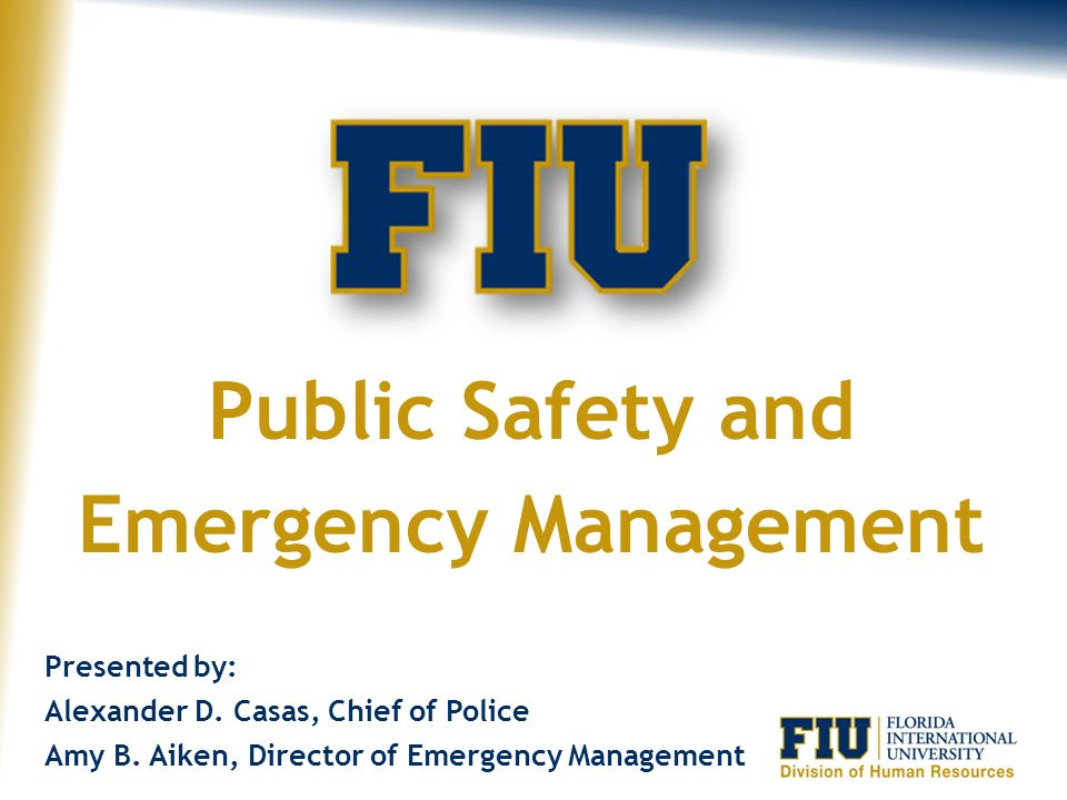 Public Safety and Emergency Management