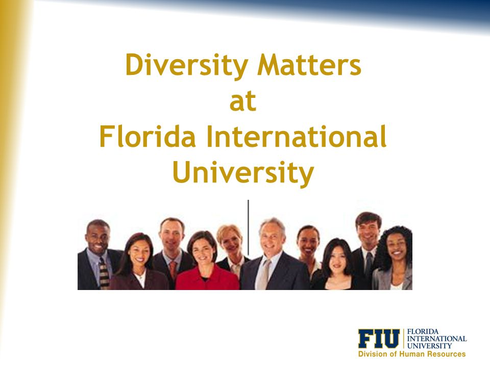 Diversity Matters at Florida International University