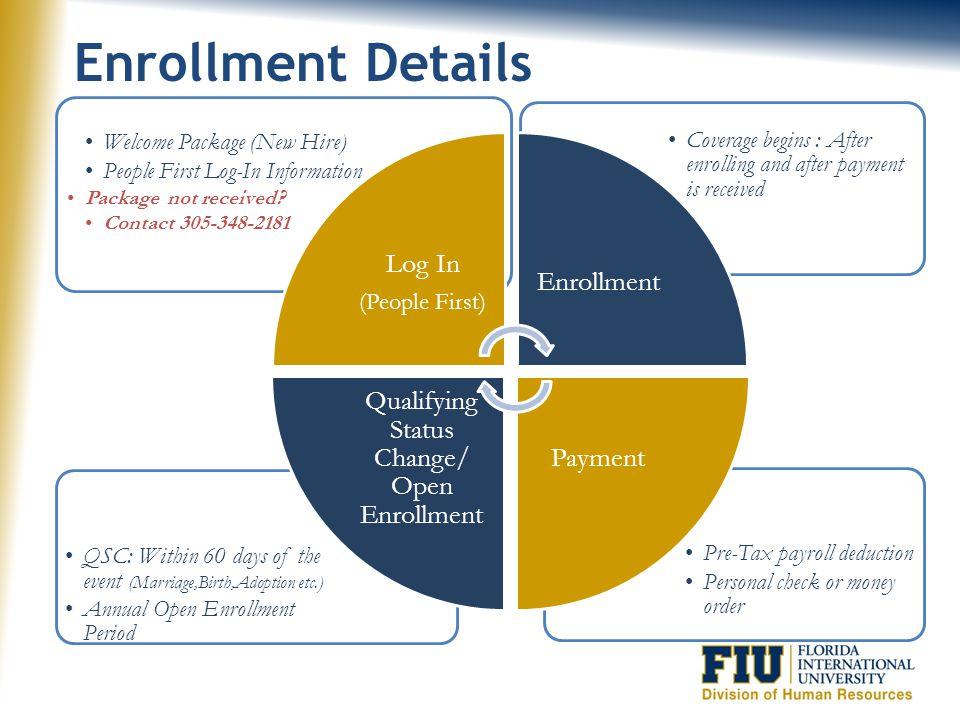 Qualifying Status Change/ Open Enrollment