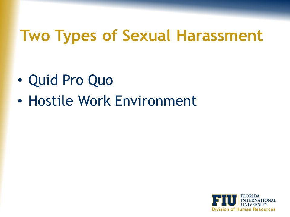 Two Types of Sexual Harassment