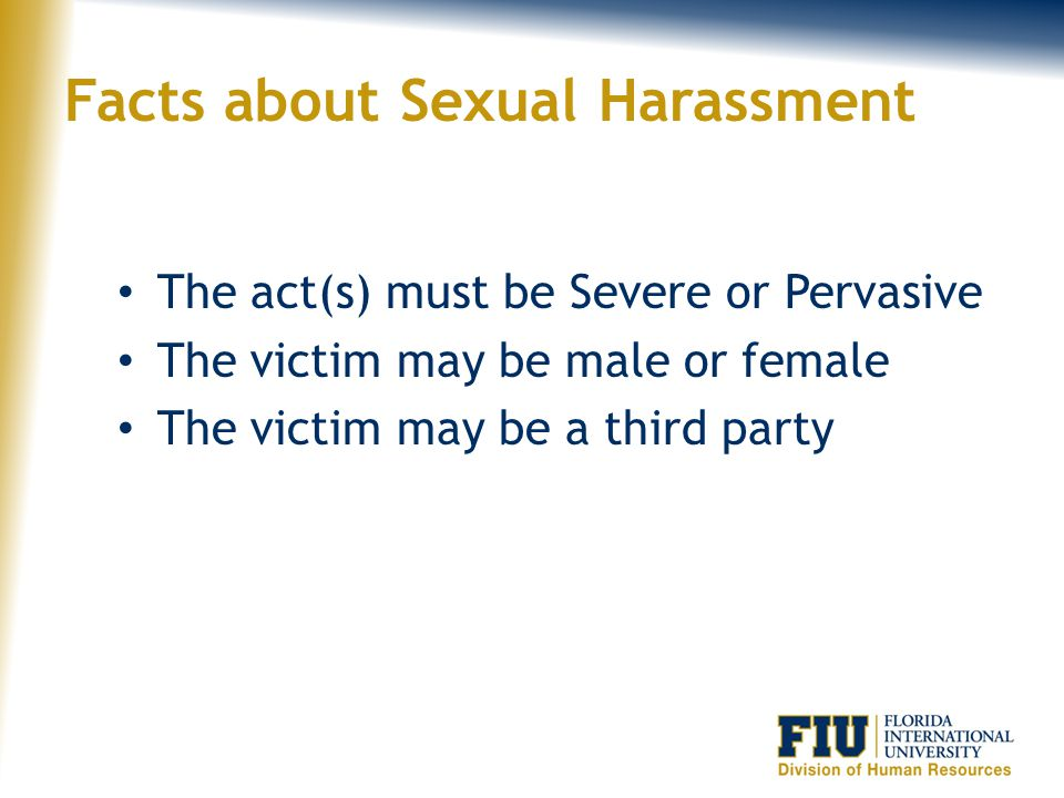 Facts about Sexual Harassment