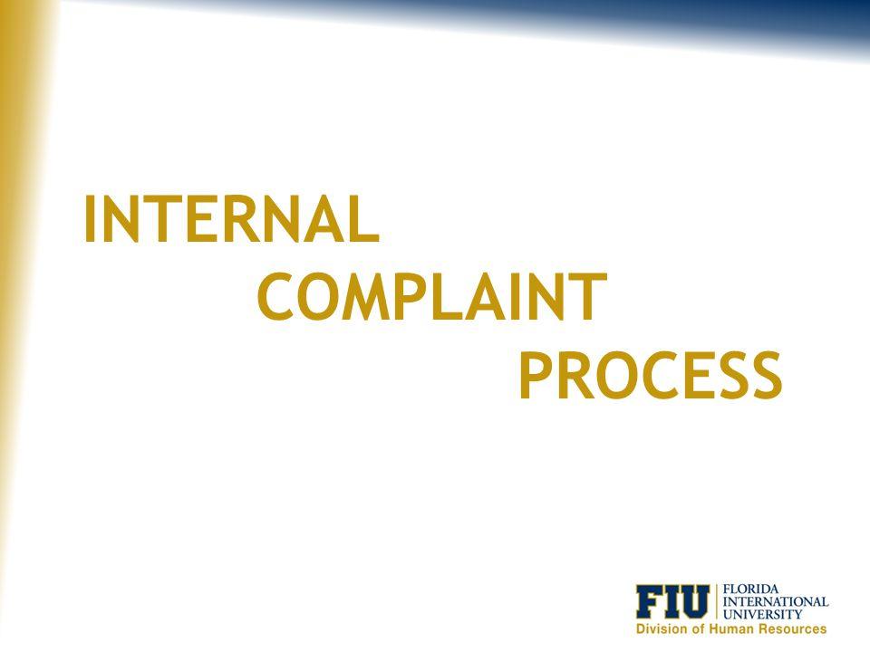 Internal Complaint Process