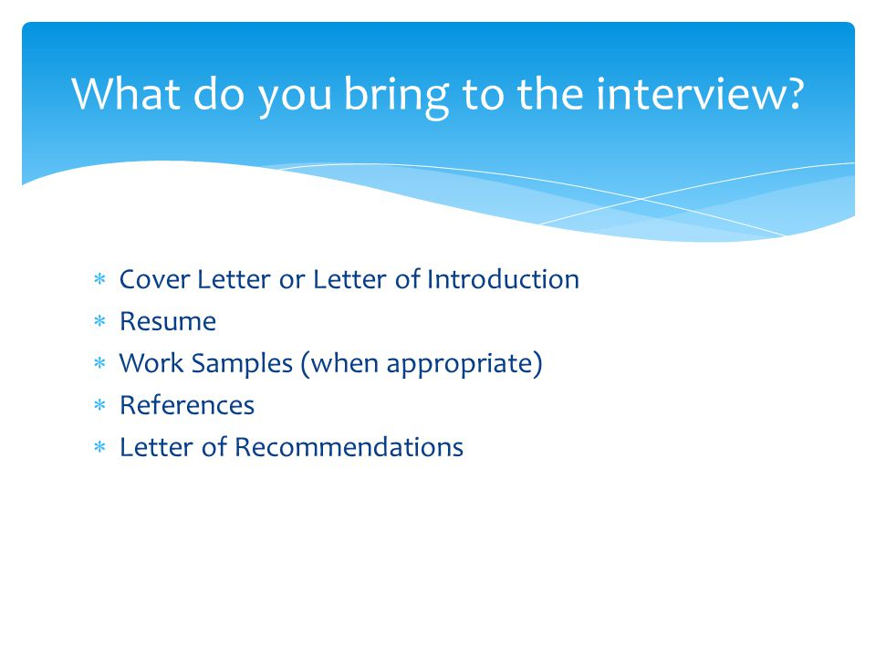 Preparing students for a job interview ppt download for Should you bring a cover letter to an interview