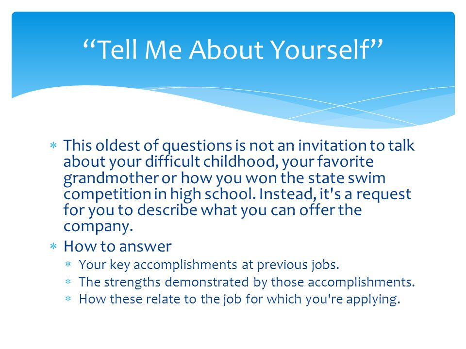 Tell me about yourself essay writing