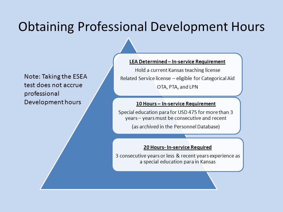 Obtaining Professional Development Hours