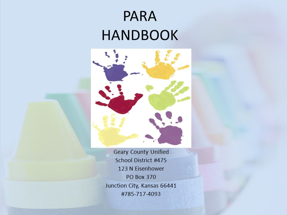 PARA HANDBOOK Geary County Unified School District #475