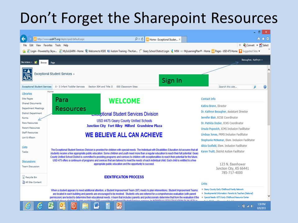 Don't Forget the Sharepoint Resources