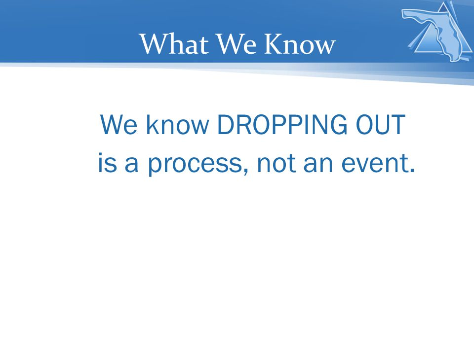 is a process, not an event.