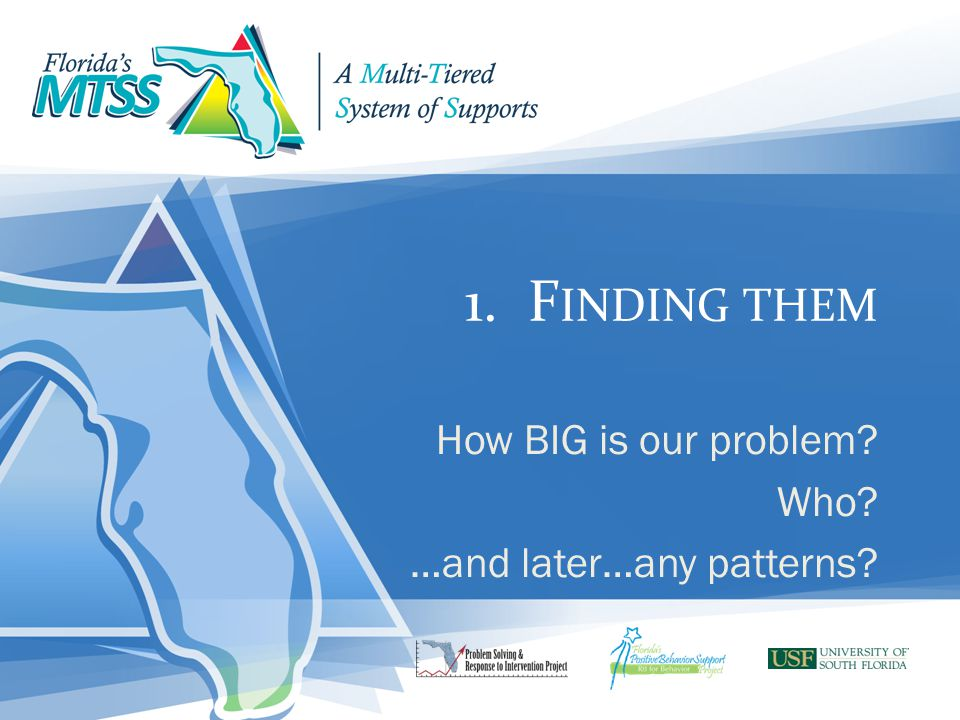 How BIG is our problem Who …and later…any patterns