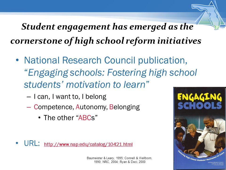 Student engagement has emerged as the cornerstone of high school reform initiatives.