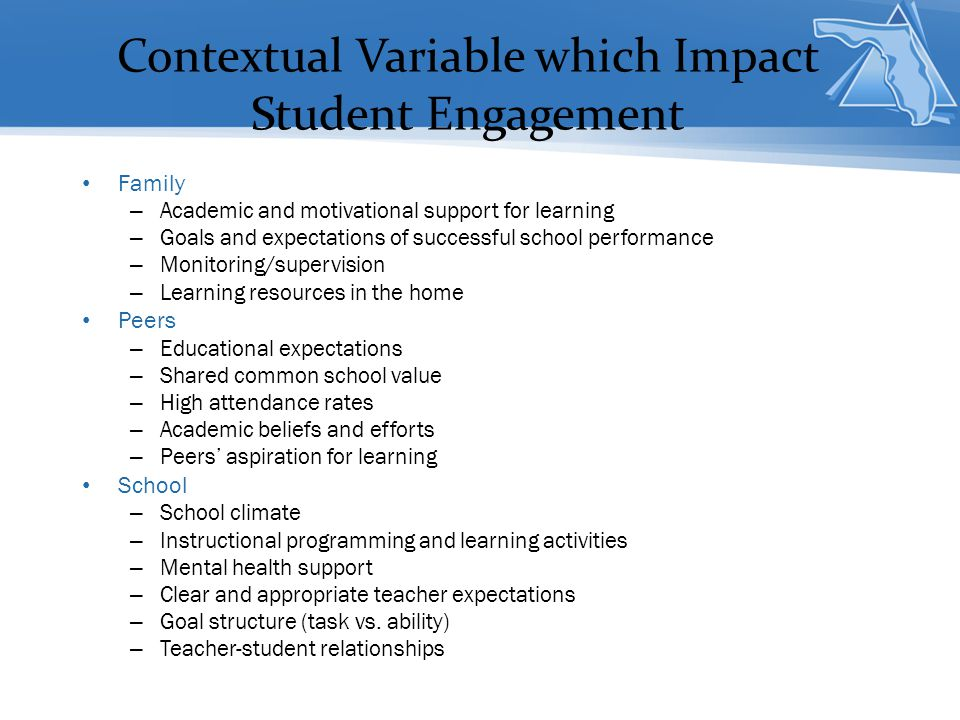 Contextual Variable which Impact Student Engagement